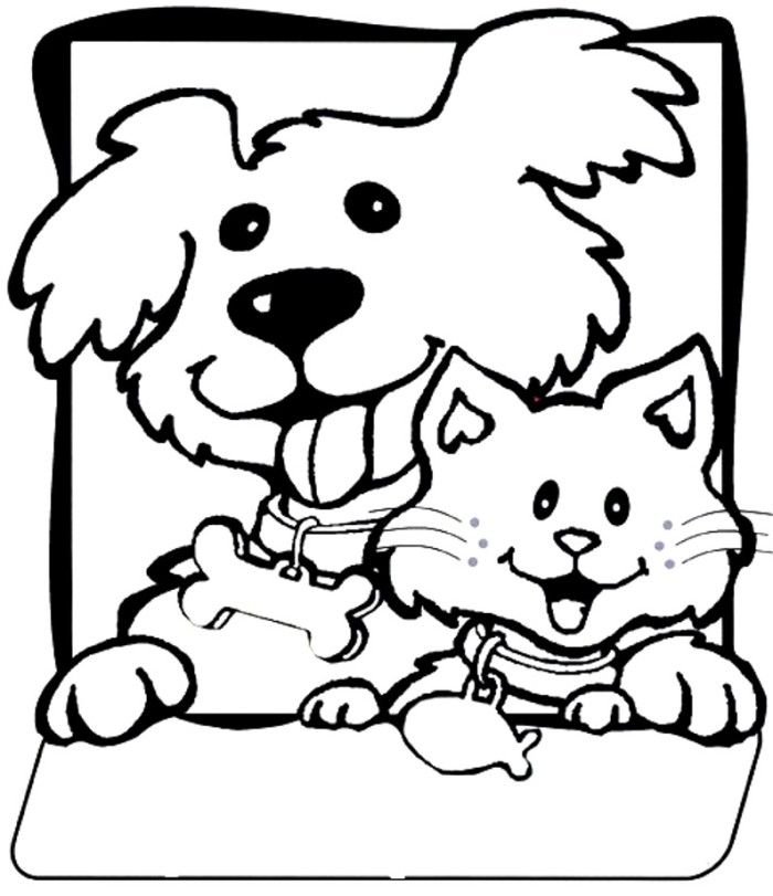 dog and cat coloring pages druntk