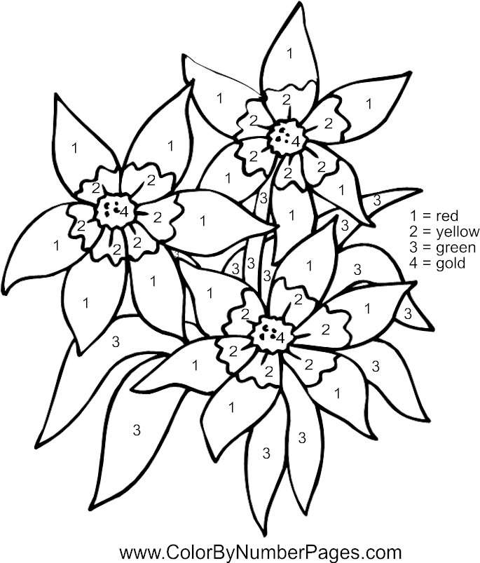 print these color by number coloring pages for free color by number