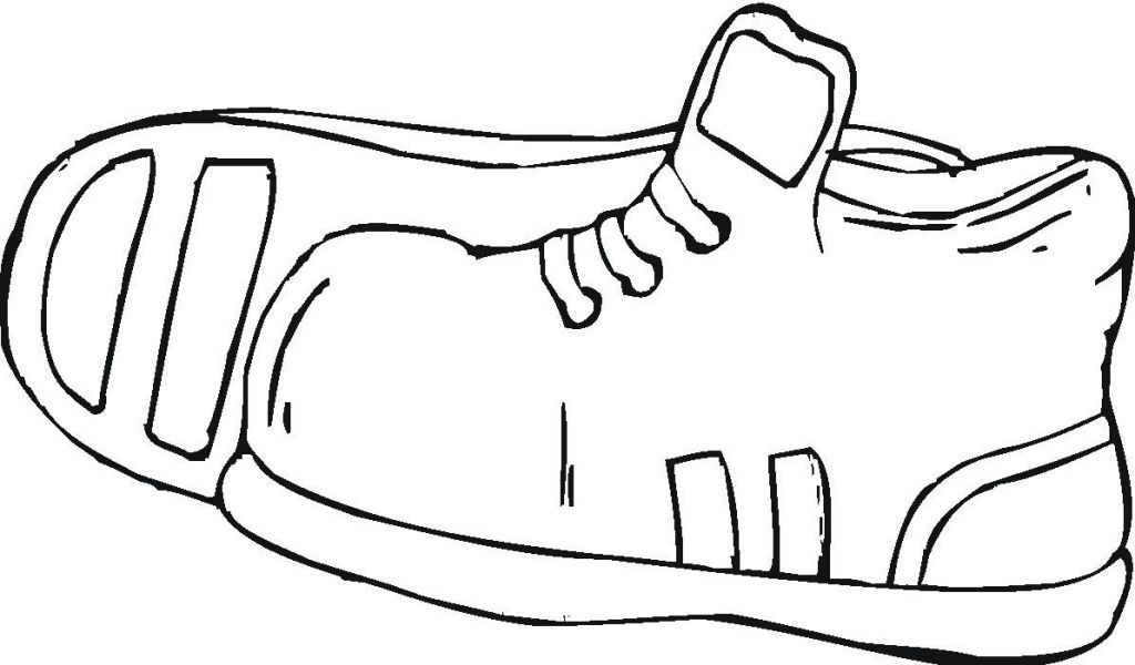 Shoes Coloring Pages - GetColoringPages.com | 600x1024