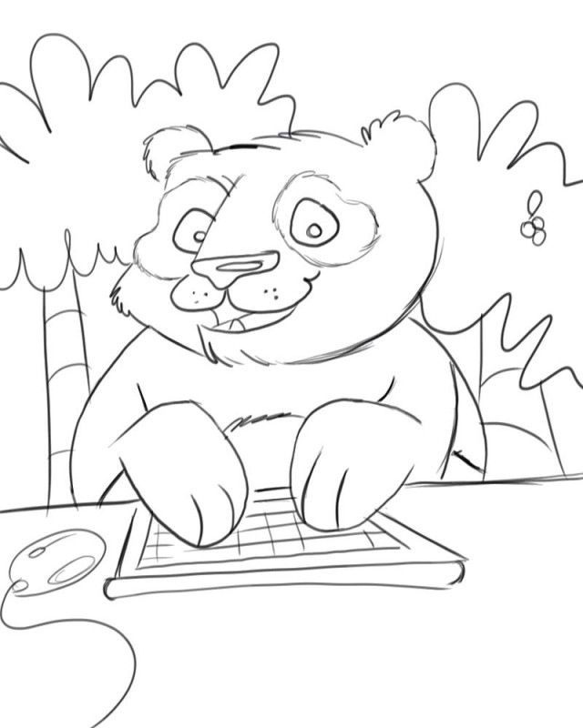 panda bear coloring pages for kids az coloring pages