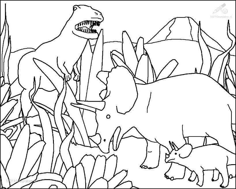 Pictures Of Prehistoric Animals Coloring Home