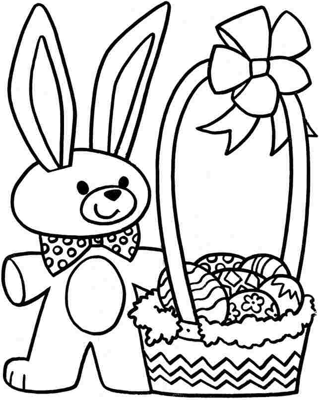 easter bunny color page az coloring pages