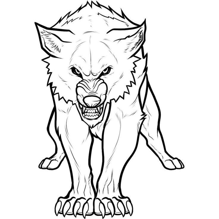 printable pictures of wolves az coloring pages