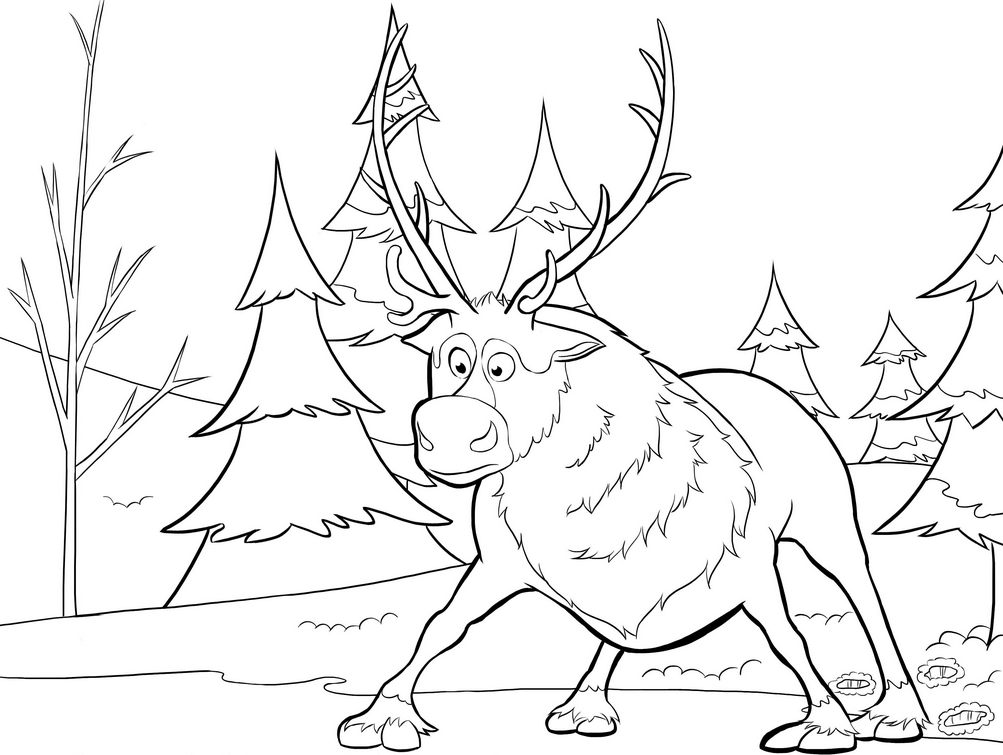reindeer coloring pictures az coloring pages