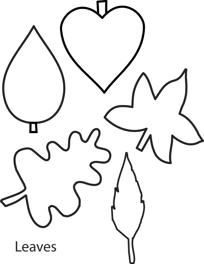 banana leaf template colouring pages page 2