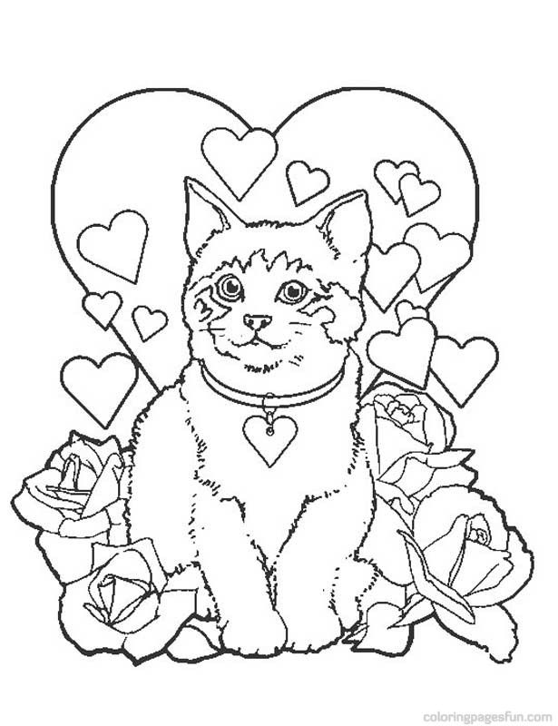 printable puppy and kitten coloring pages cooloring com