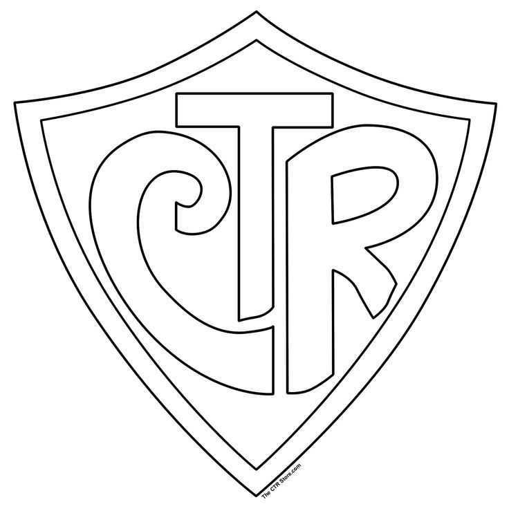 ctr shield coloring page az coloring pages