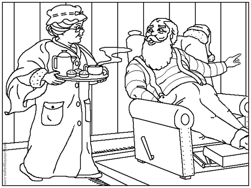 mrs claus coloring pages mrs claus coloring pages more coloring
