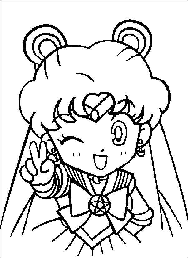 sailor moon printable pages az pages