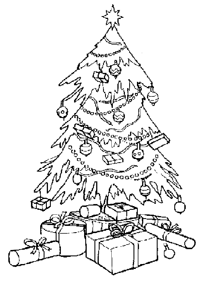 christmas trees to color az coloring pages
