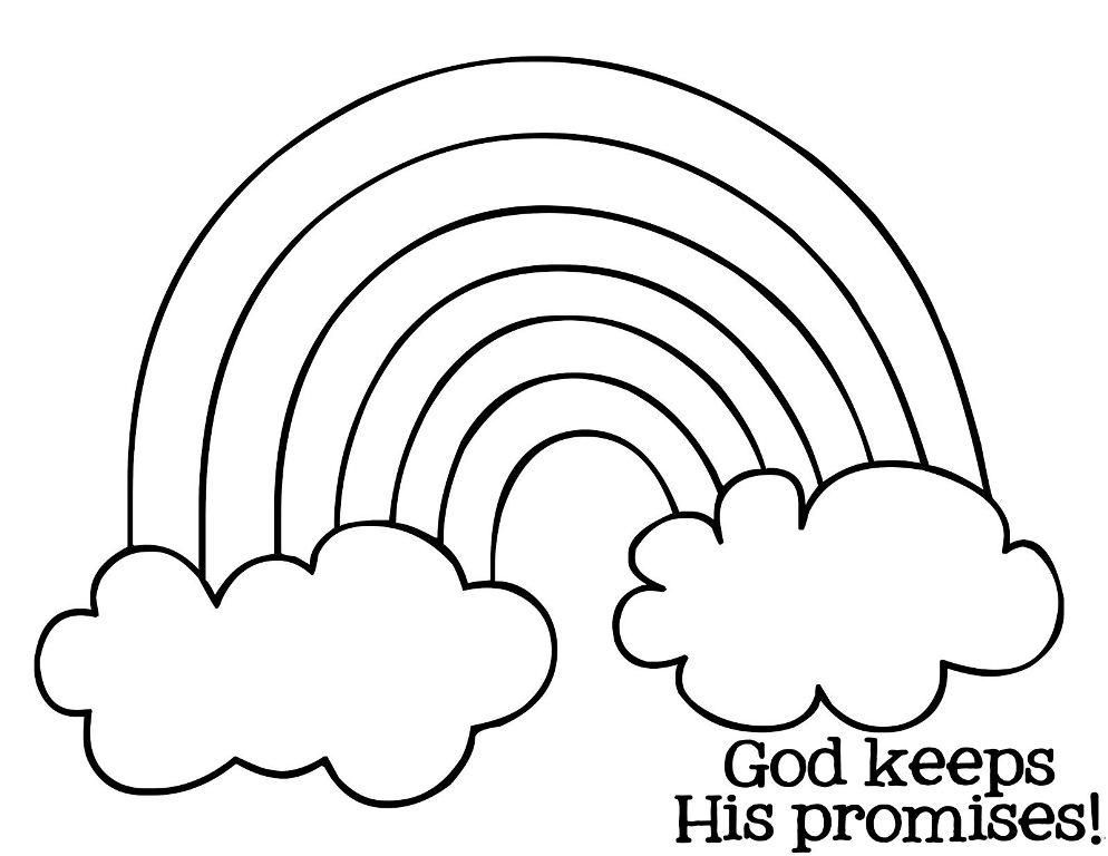 rainbow to color and print az coloring pages
