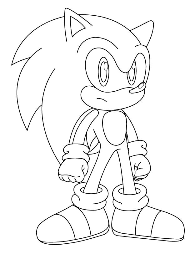 dark sonic coloring pages az coloring pages