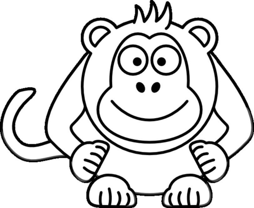 monkey face coloring page az coloring pages