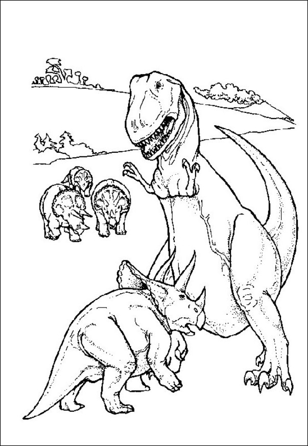 dinosaur color by number az coloring pages