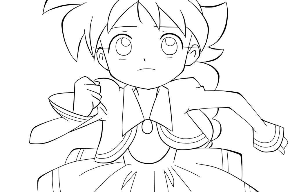 anime coloring page ahiru duck free coloring pages