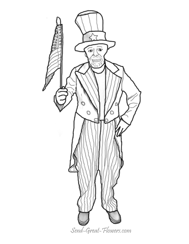 these uncle sam coloring pages for free uncle sam coloring pages
