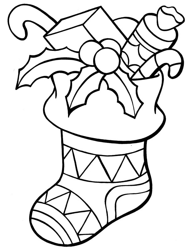 coloring pages for free of christmas stockings coloring pages