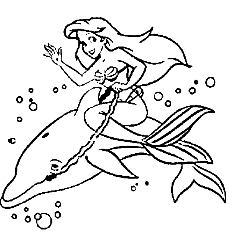 coloring pages mermaid dolphin cooloring com