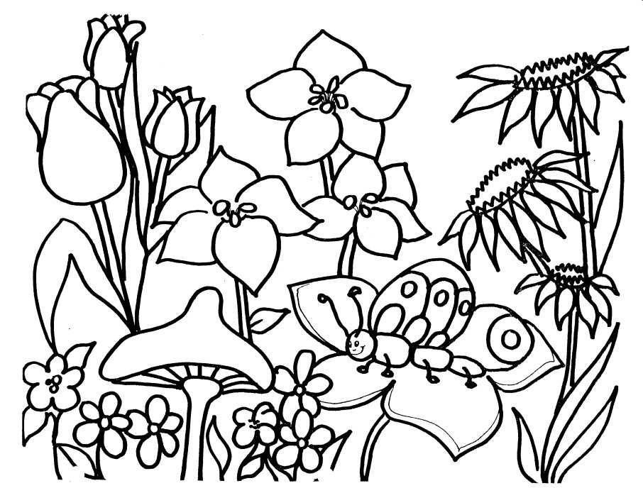 spring coloring pages printable druntk