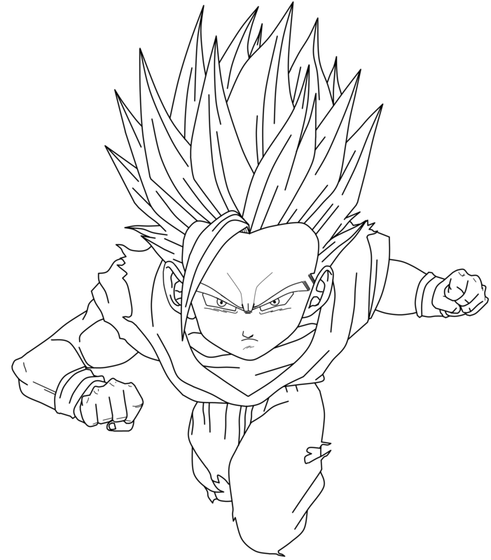 dragon ball z coloring pages gohan az coloring pages