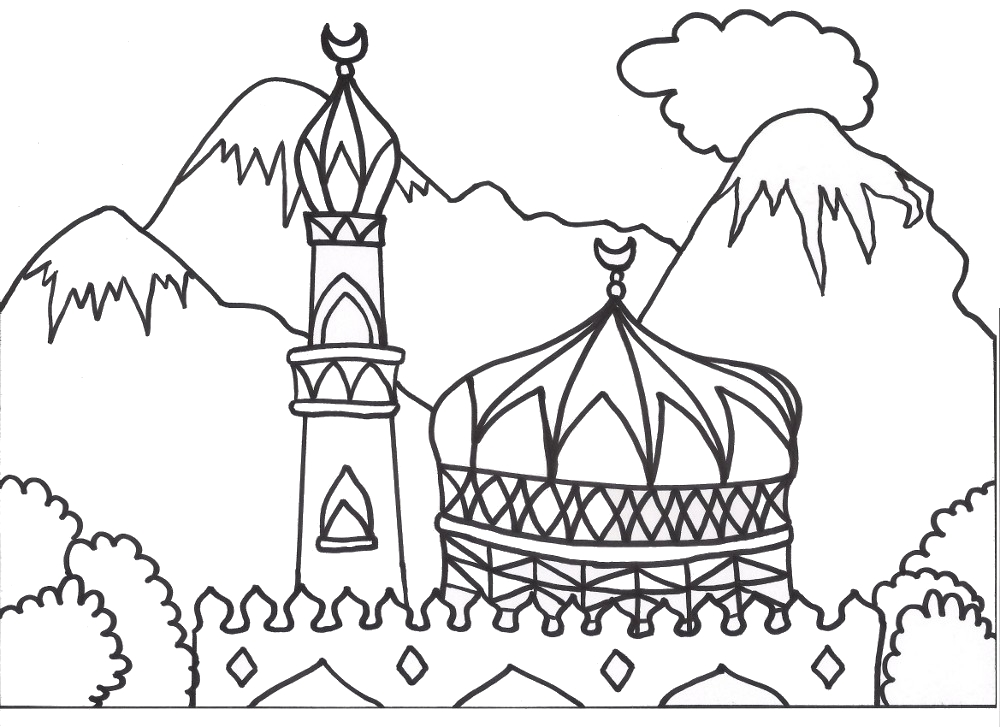 coloring book ~ Coloring Book Islamic Sheets Picture Inspirations ... | 727x1000