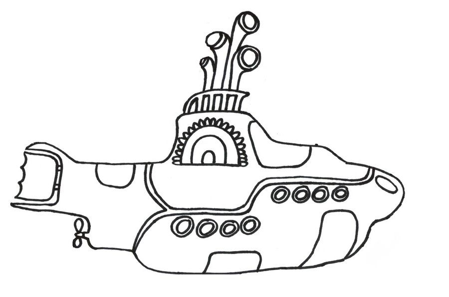 yellow submarine coloring pages az coloring pages