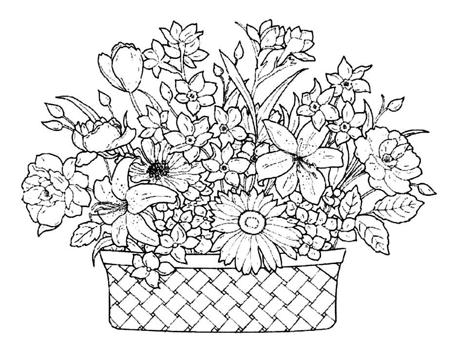 basket full of flowers pages or az pages