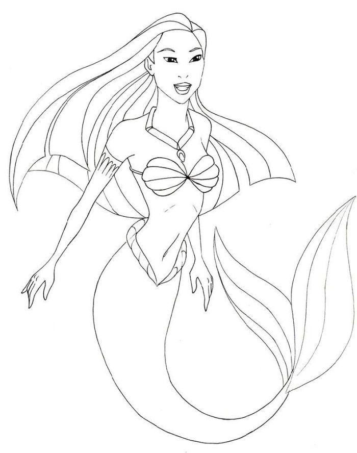 mermaid info az coloring pages