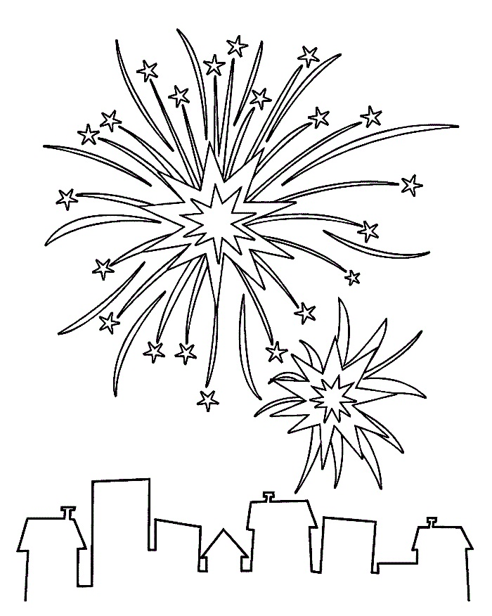 coloring pages of fireworks az coloring pages