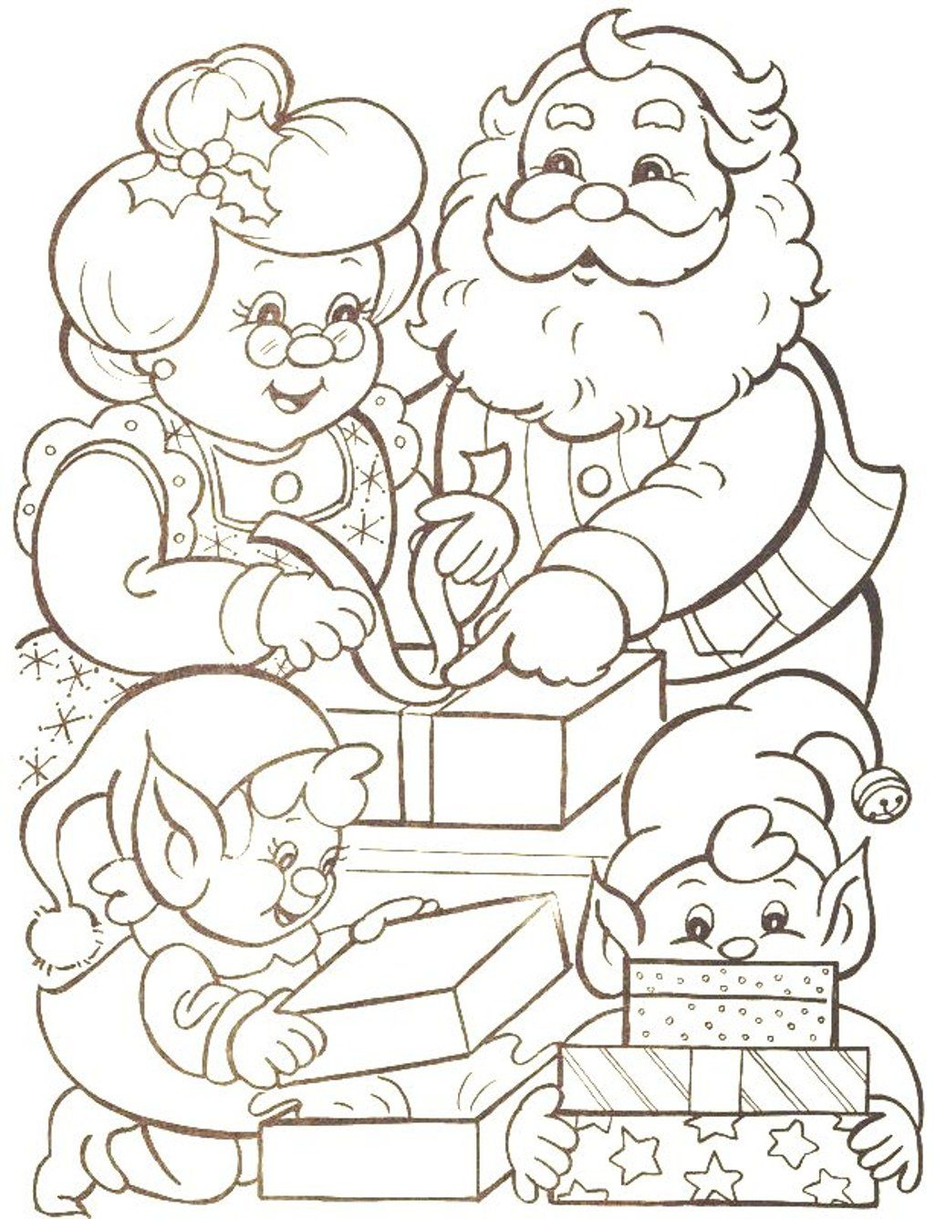 Free Coloring Pages Santa Claus