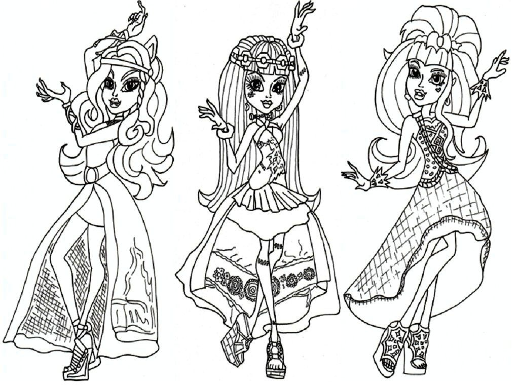 monster high coloring pages pdf az coloring pages