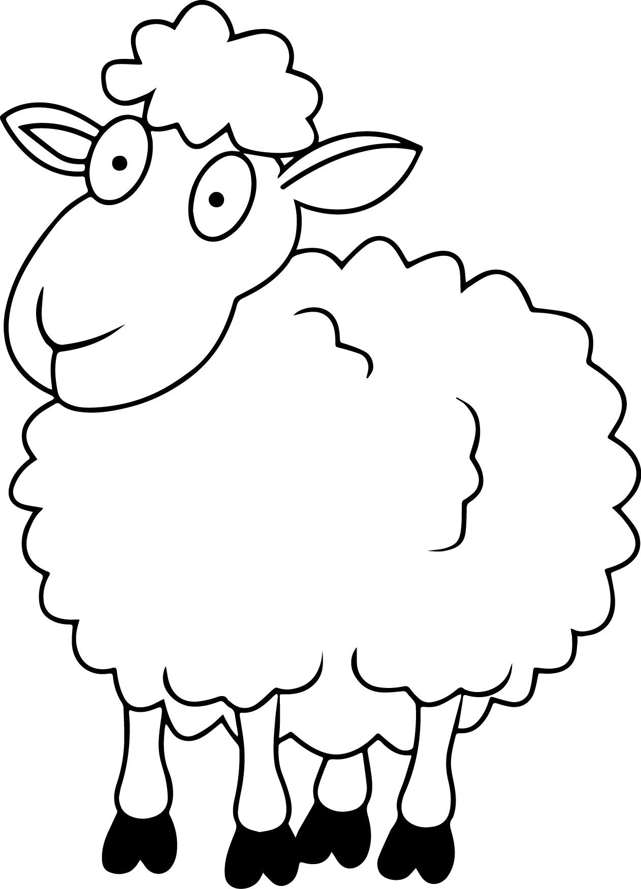 sheep coloring page druntk