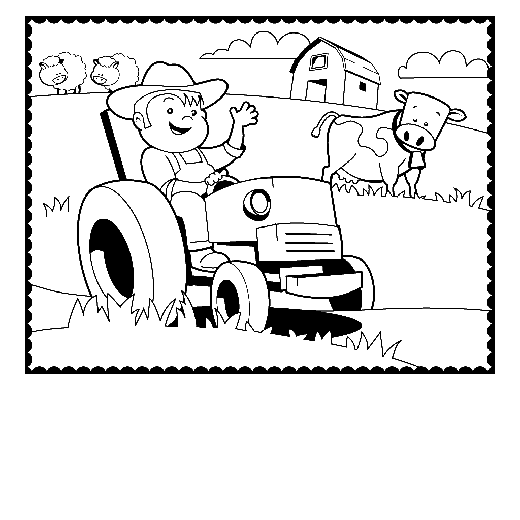 free printable farm coloring pages az coloring pages