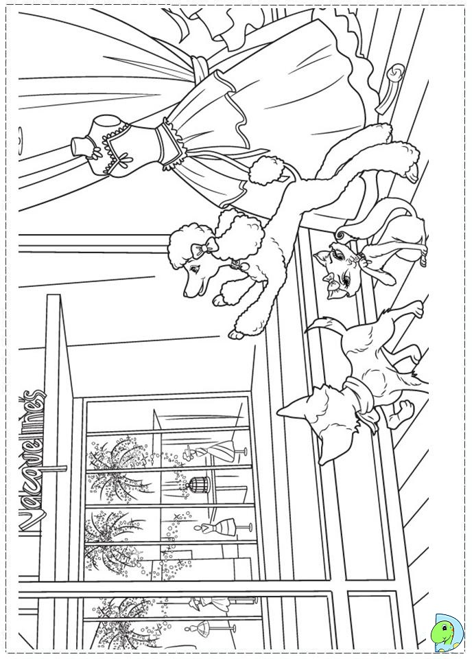 barbie a fashion fairytale colouring pages coloring pages now