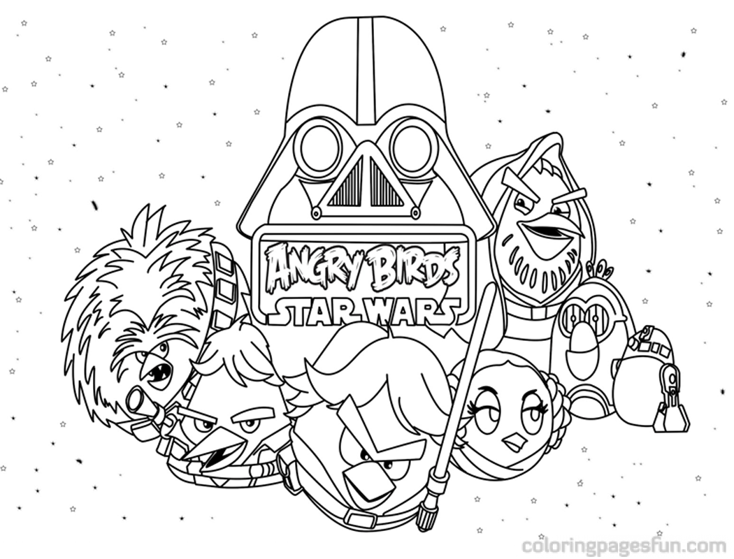 angry birds star wars coloring pages printable az coloring pages