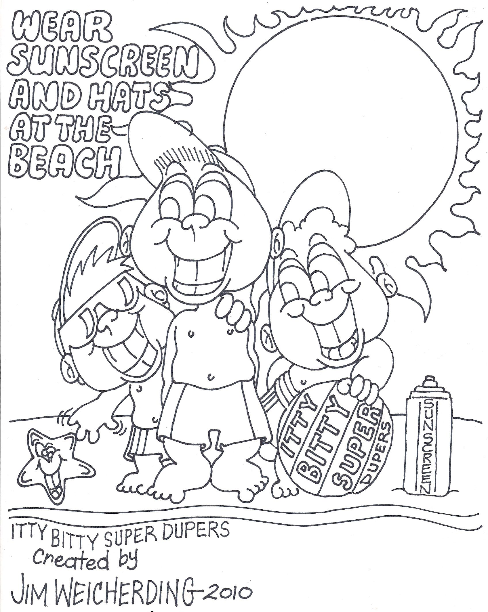 Sun Safety Coloring Pages Printable Sketch Coloring Page