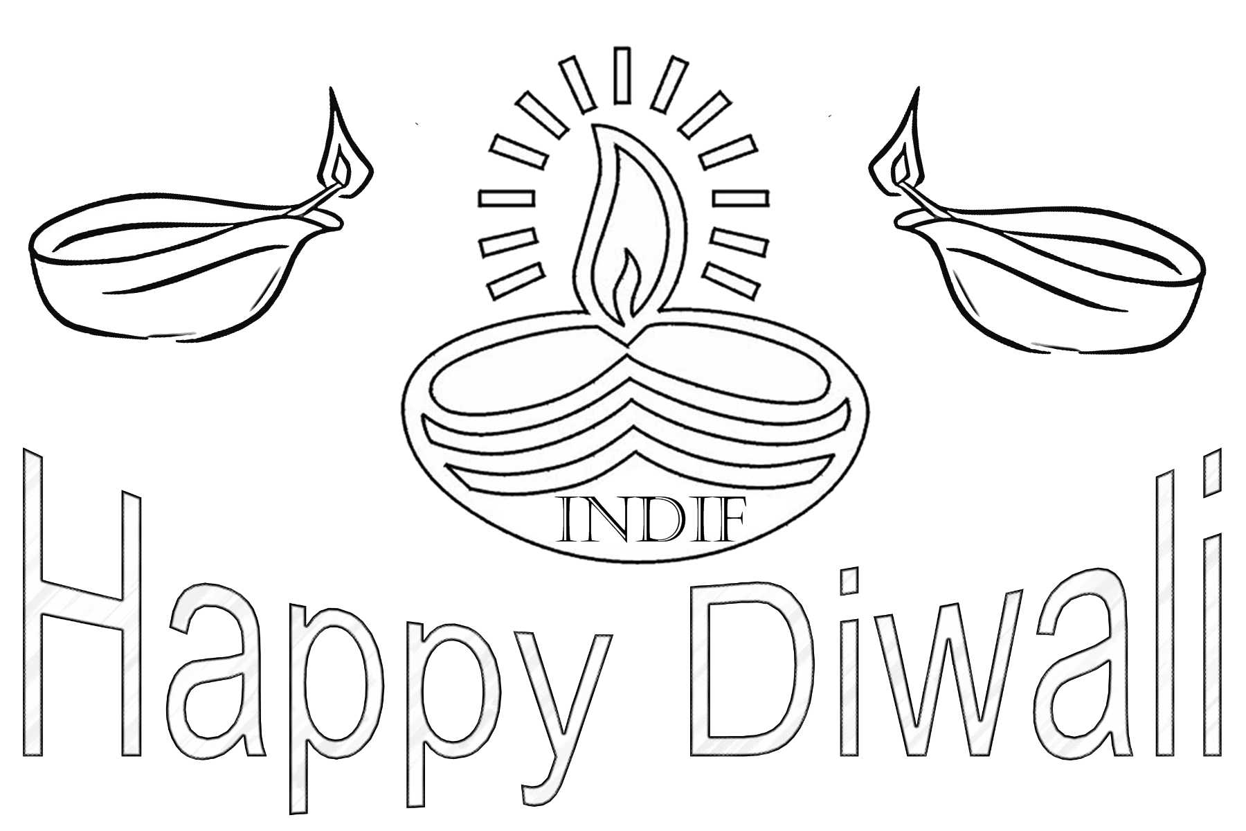 Diwali Coloring Worksheet