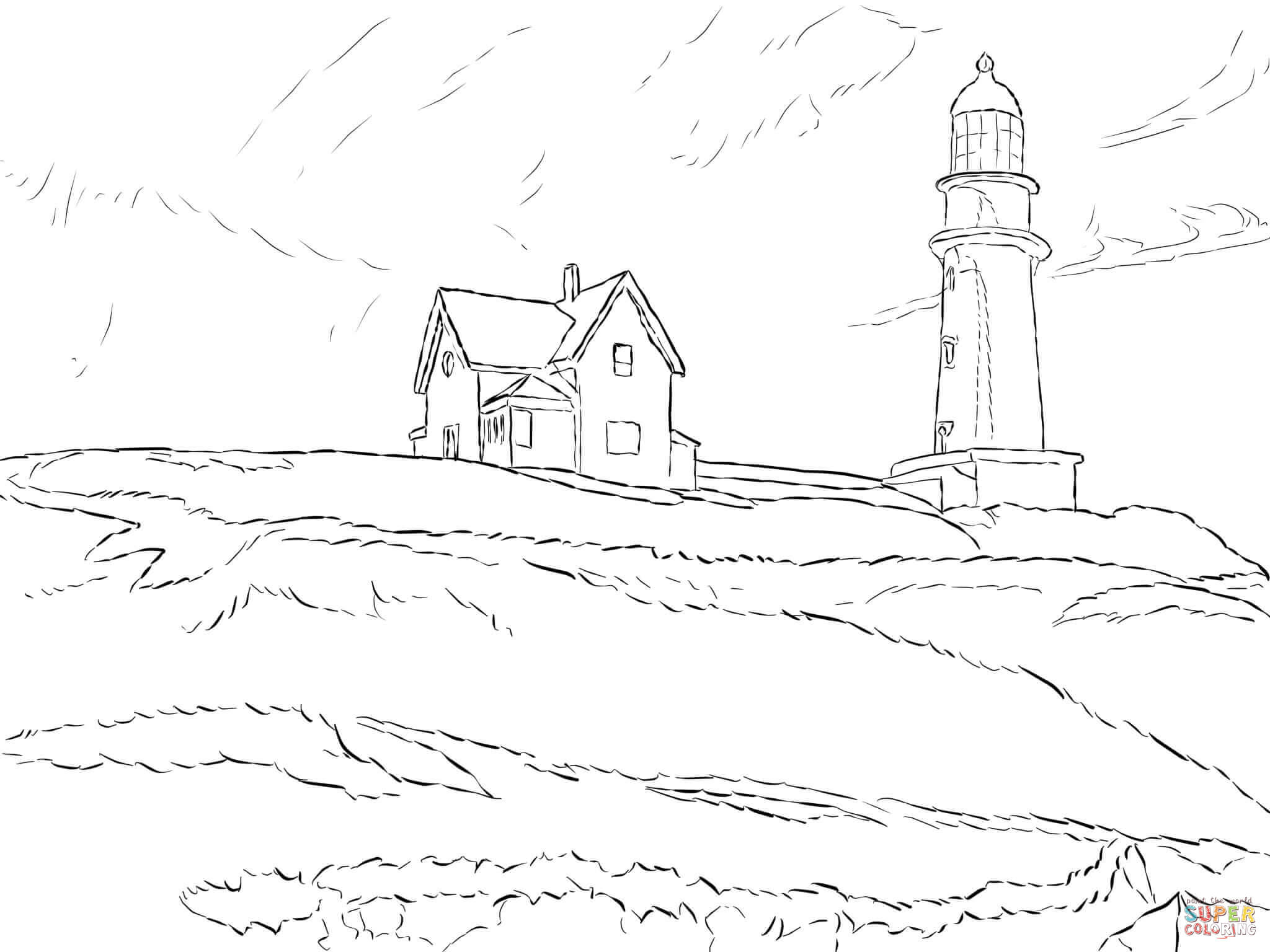 realistic lighthouse coloring pages az coloring pages