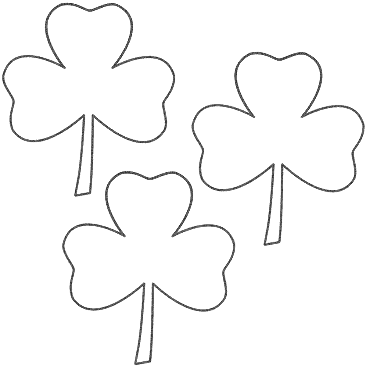 St Patrick Day Shamrock Coloring Pages
