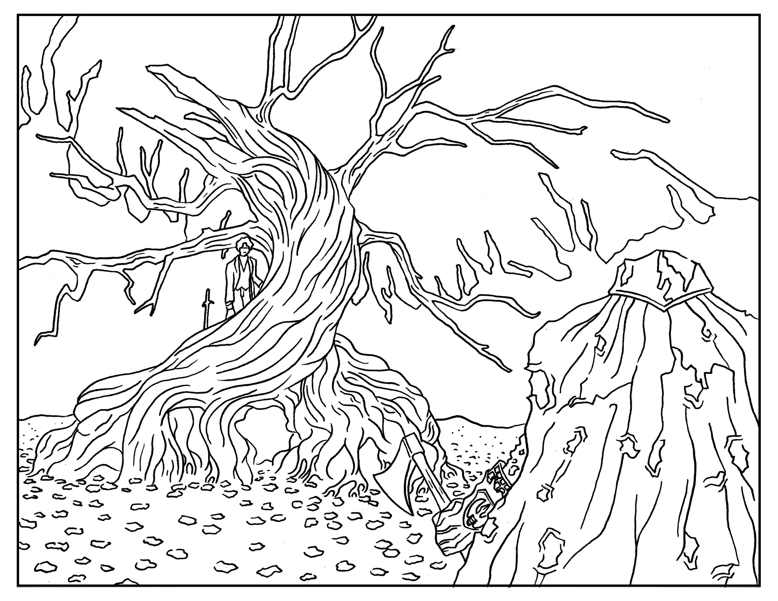Adult Halloween Coloring Pages