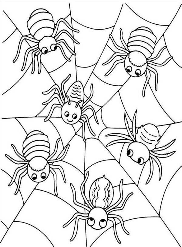 halloween spider coloring pages az coloring pages