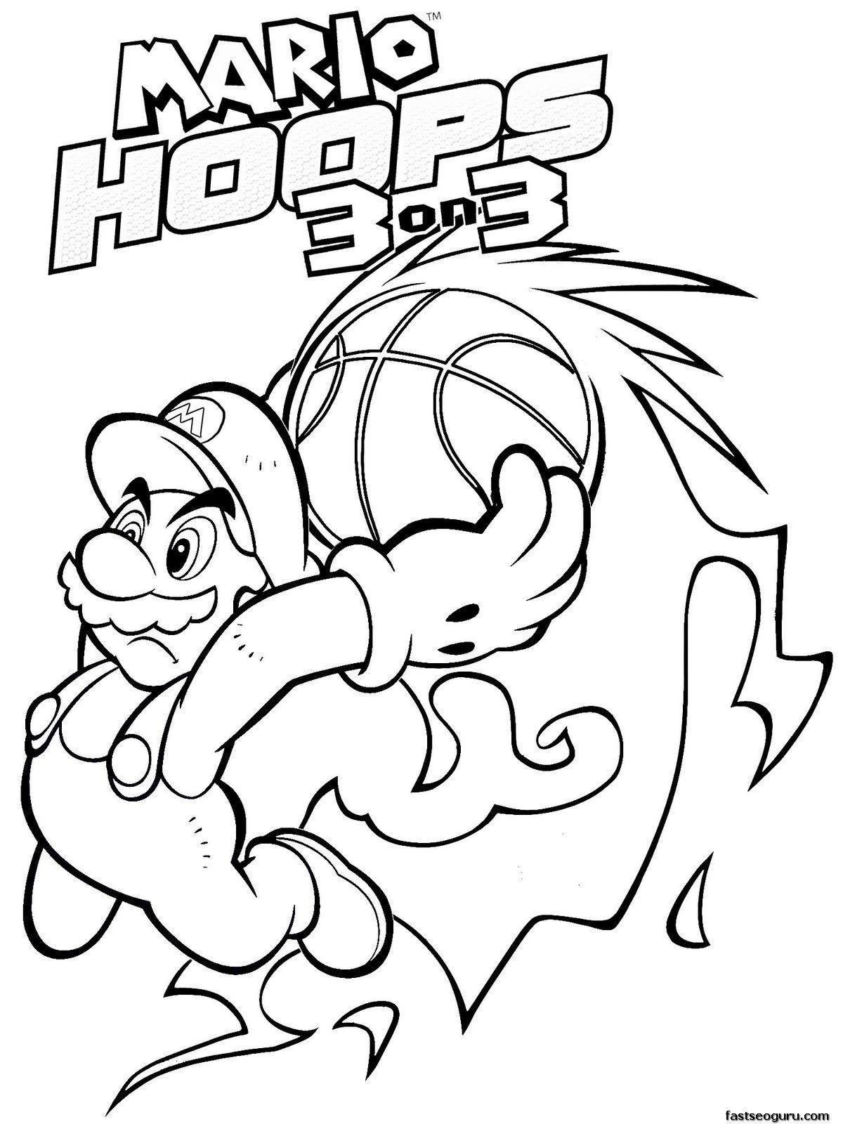 Super Mario Bros #204 (Video Games) – Printable coloring pages | 1600x1200