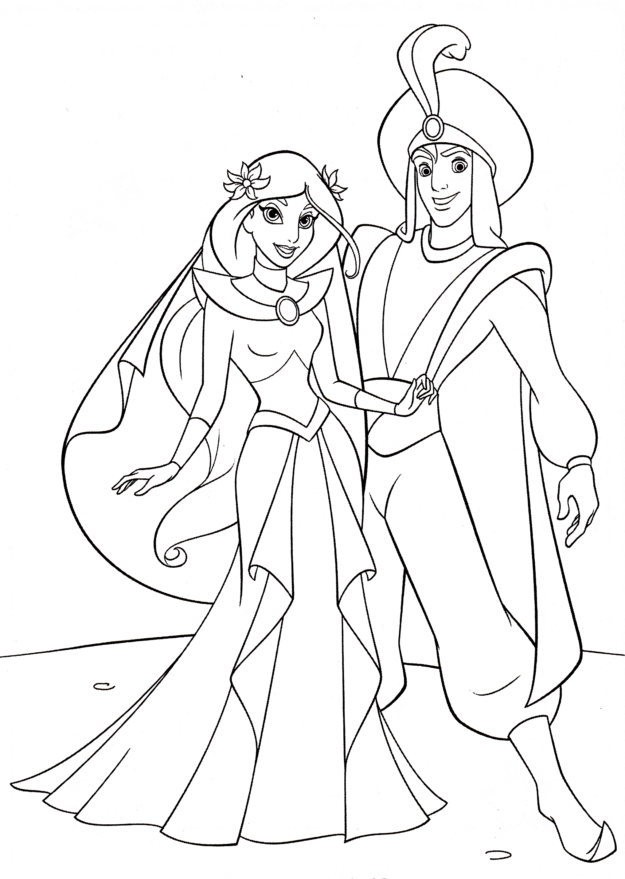Disney Princess Coloring Pages Jasmine