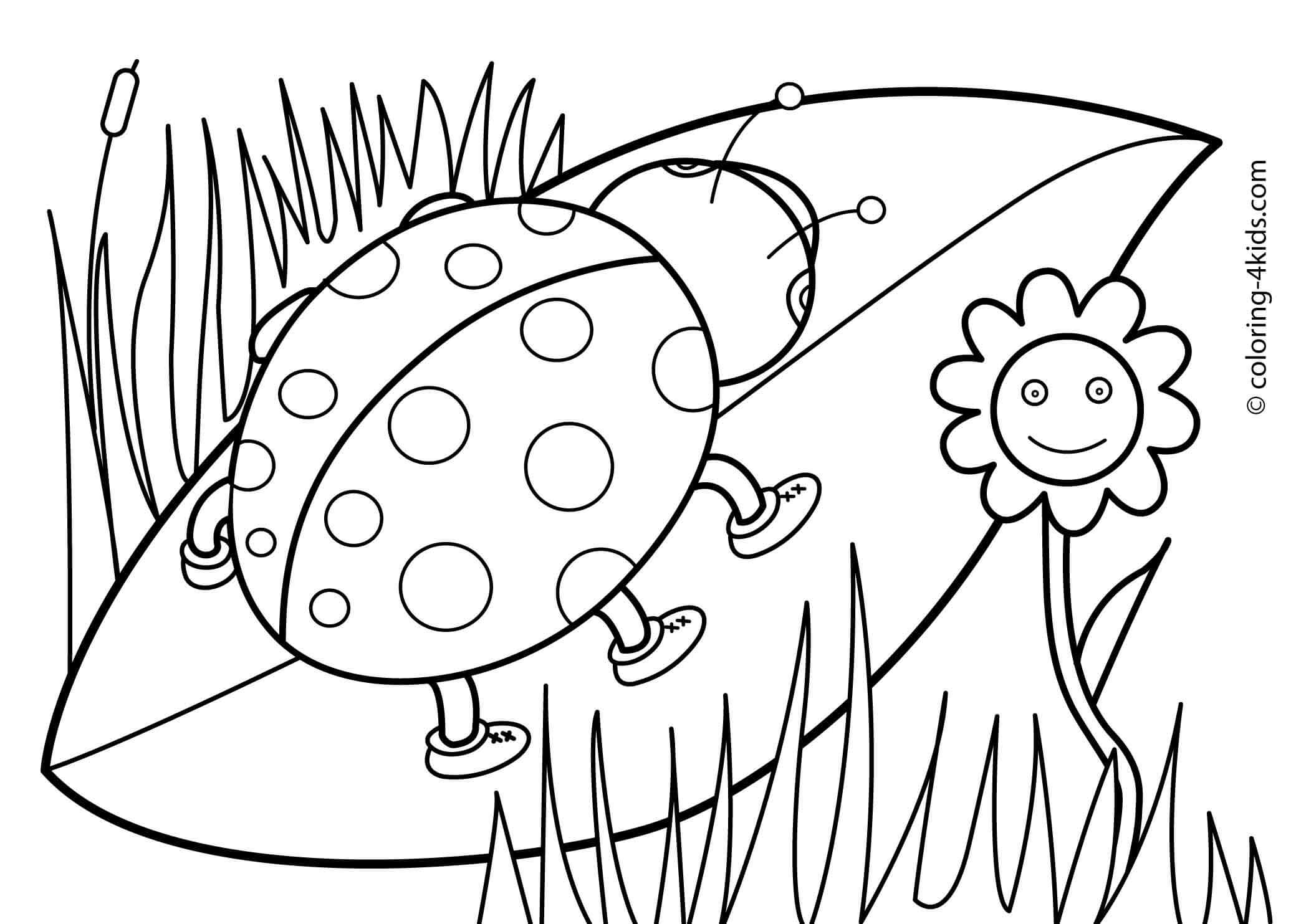 free color pages spring coloring pages now