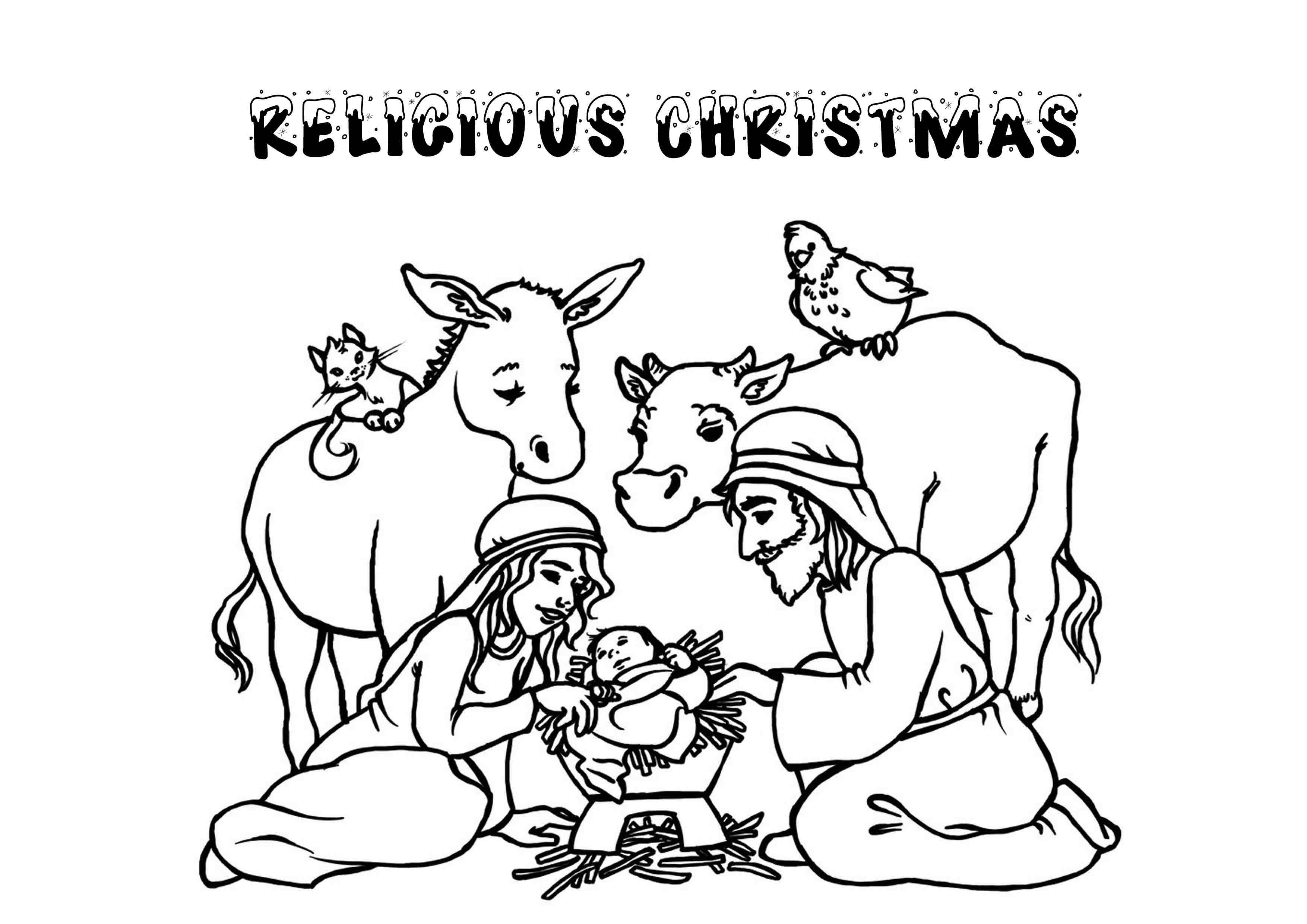 Christmas Religious Printable Coloring Pages