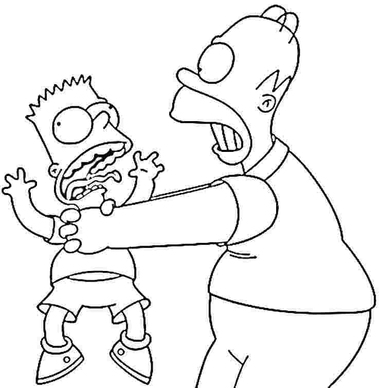 simpsons coloring pages to print az coloring pages