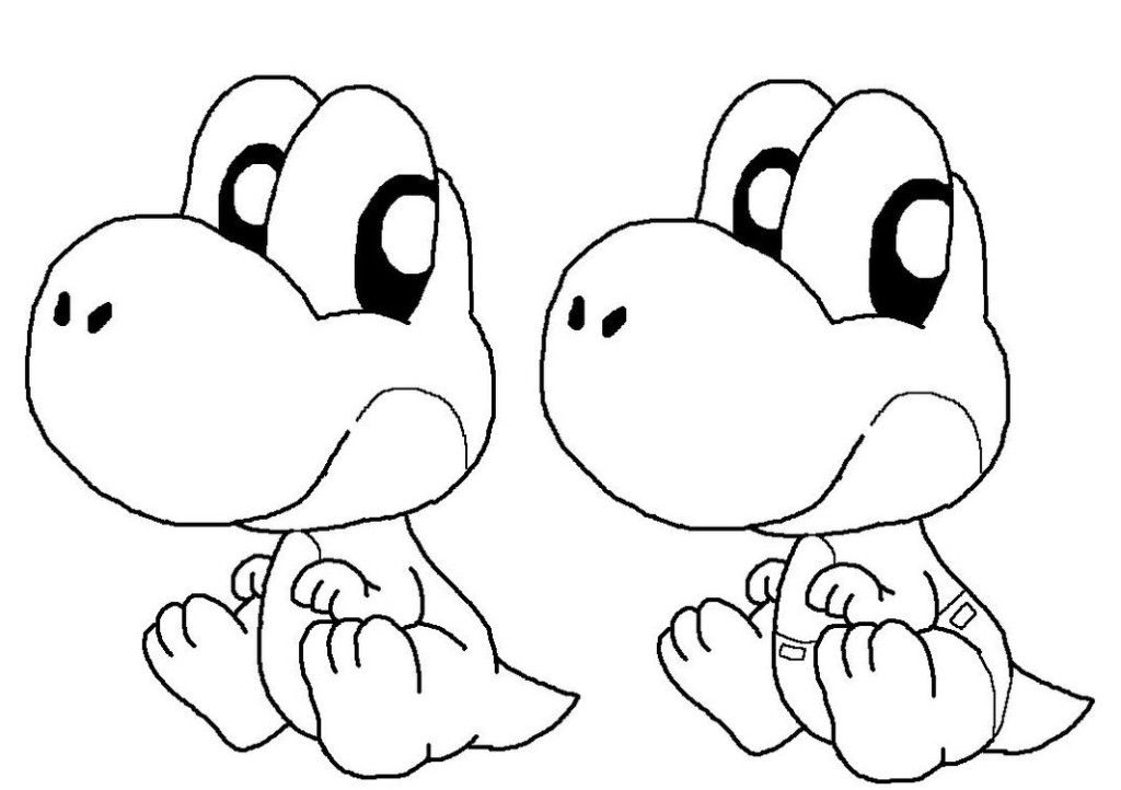 baby yoshi coloring pages az coloring pages