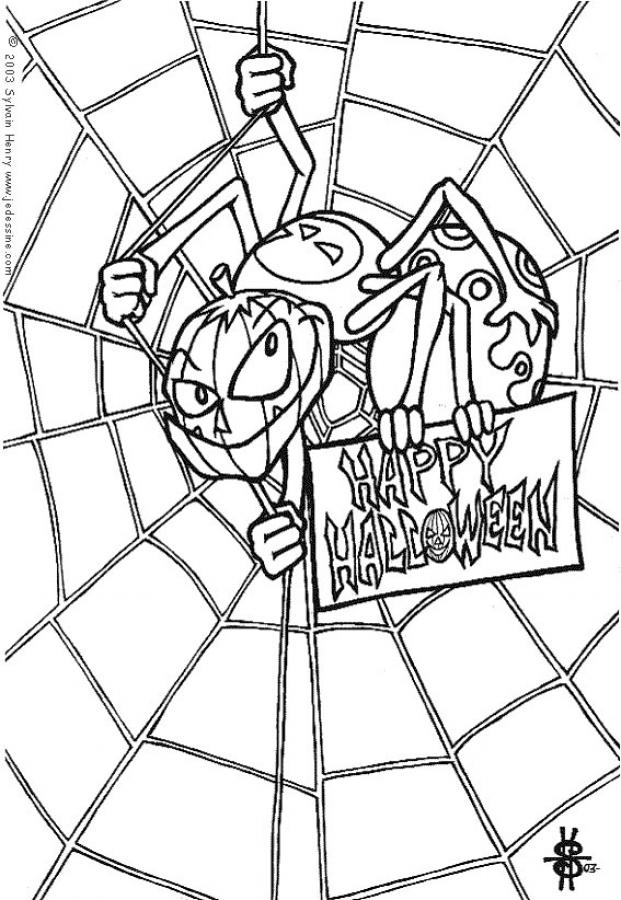 spider web coloring page az coloring pages