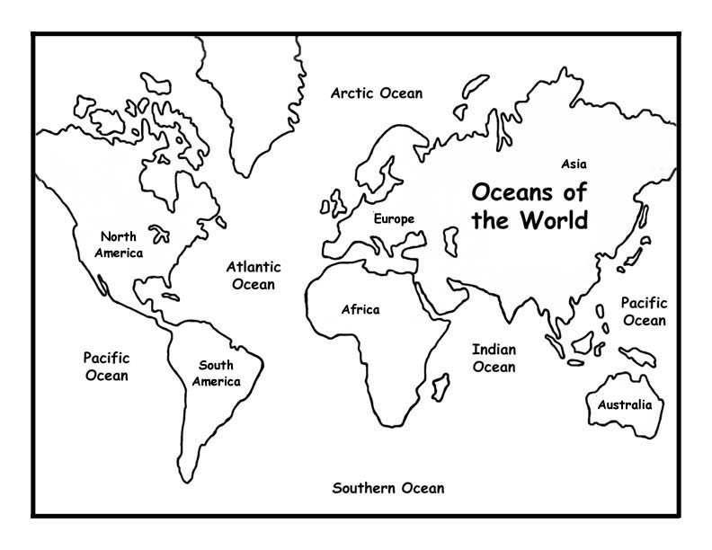 pictures of continents az coloring pages