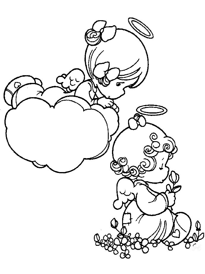 precious moments angels coloring pages az coloring pages